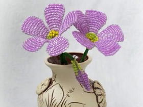 怎么做珠花的方法图解 串珠手工制作仿真花
