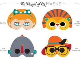 怎么做卡通面具图纸 卡纸手工制作玩具面具