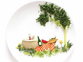 怎么做食材拼画图片 食物水果DIY拼画作品