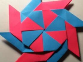 怎么折纸八角形飞镖 手工忍者飞镖的折法图解