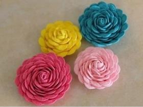 怎么做漂亮头花发饰 花边条手工制作花朵发夹