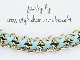 怎么编织唯美手链图解 皮绳和金属链编手链