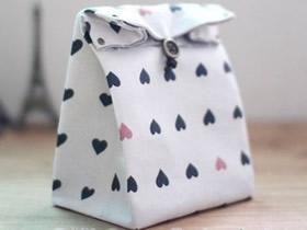 怎么做礼品袋的方法 布艺手工制作礼品包装袋