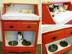 怎么改造旧柜子的方法 手工制作漂亮猫窝