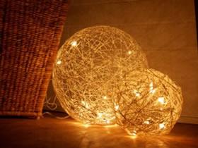 怎么做绳子灯罩的方法 气球道具制作球体灯饰