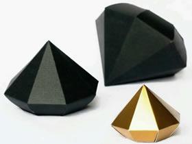 怎么做立体纸钻石方法 卡纸手工制作钻石图纸