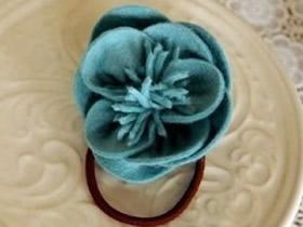 怎么做布花头绳的方法 布艺手工制作头花图解