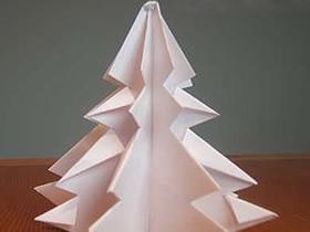 怎么折纸立体圣诞树 一张纸折圣诞树的折法