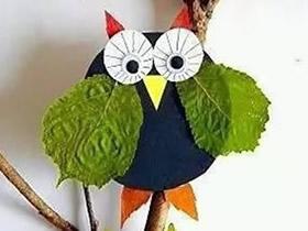 幼儿园树叶贴画图片 简单又可爱的树叶拼贴画