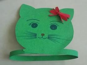 怎么做小猫咪头饰图解 卡纸手工制作儿童头饰