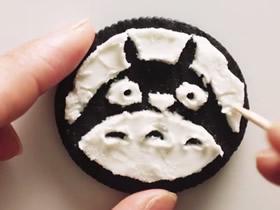 怎么做饼干画的创意 奥利奥饼干夹心做画图片