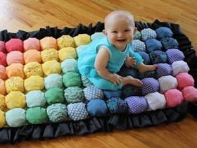 怎么做婴儿地毯图解 手工布艺宝宝地毯制作