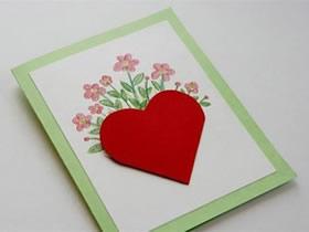 怎么做母亲节爱心贺卡 简单情人节贺卡制作