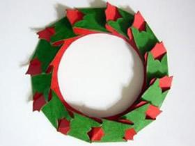 怎么做纸圣诞花环方法 卡纸手工制作圣诞花环