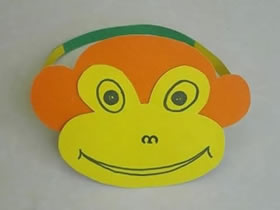 怎么做猴子头饰的方法 卡纸手工制作猴子帽子