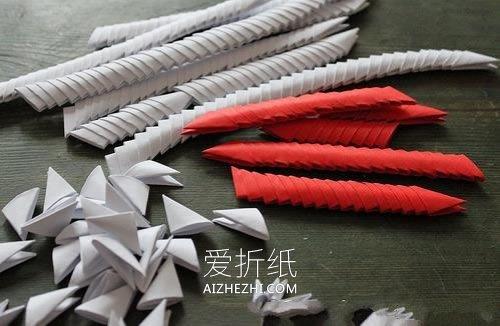怎么做三角插天鹅图解 三角插制作情人节天鹅- www.aizhezhi.com