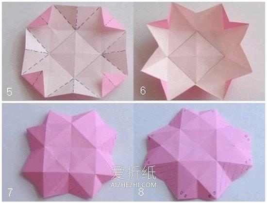 怎么做八角形糖果盒 手工折纸八角礼物盒图解- www.aizhezhi.com
