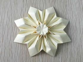 怎么折纸八瓣花的方法 超美八瓣纸花的折法