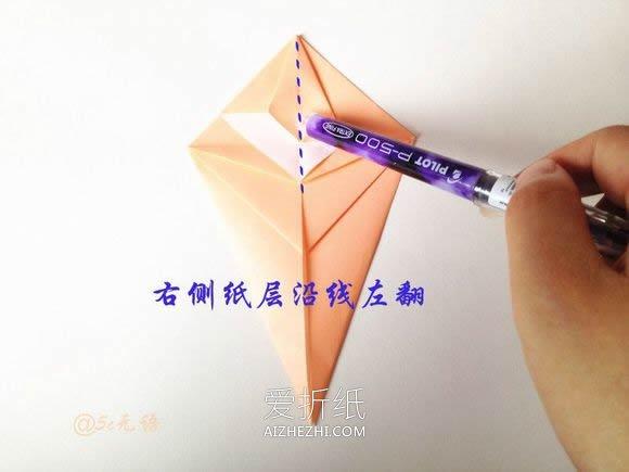 怎么折纸逼真的老鼠 手工立体老鼠的折法图解- www.aizhezhi.com
