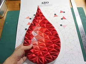 怎么做纸雕装饰画图解 手工制作水滴装饰画