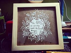 手工平面纸雕装饰画图片 唯美小清新!