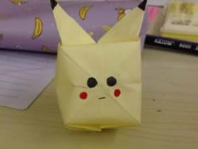 怎么折纸简单皮卡丘 儿童立体皮卡丘的折法