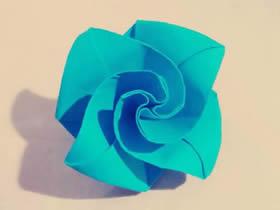 怎么折纸钻石玫瑰图解 手工钻石玫瑰花的折法