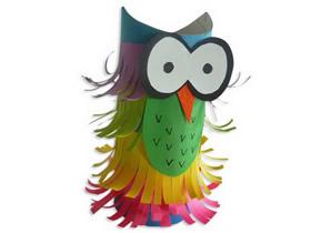 怎么用卷纸芯做猫头鹰 儿童手工制作小猫头鹰