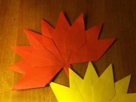 怎么折纸枫叶的方法 儿童手工树叶的折法图解