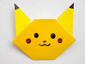 怎么简单折纸皮卡丘 儿童手工皮卡丘的折法