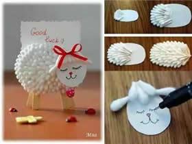 怎么用棉签做手工图片 幼儿棉签手工制作图片