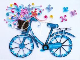 怎么做衍纸自行车图解 衍纸手工制作自行车