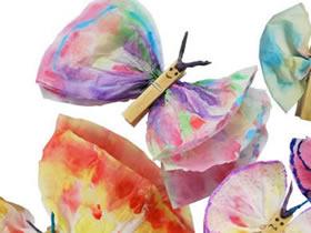 幼儿怎么做蝴蝶的教程 餐巾纸手工制作蝴蝶