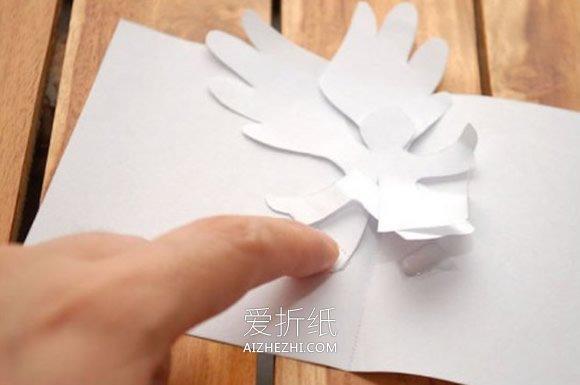 怎么做天使贺卡的方法 立体天使贺卡手工制作- www.aizhezhi.com