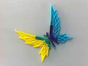 怎么折纸蝴蝶带CP图 手工美丽蝴蝶的折法图解