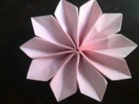 怎么简单折纸雪花图解 手工十瓣雪花的折法