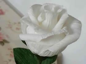 怎么做皱纹纸玫瑰教程 皱纹纸制作玫瑰花图解