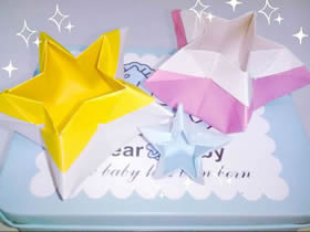 怎么折纸五角星盒子图解 手工五角形收纳盒折法
