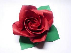 怎么折纸八瓣玫瑰花图解 手工玫瑰花折法步骤