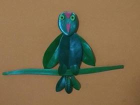 怎么做简单小鸟贴画 树叶贴画小鸟手工制作