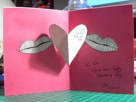 怎么做立体情人节贺卡 带爱心情人节贺卡制作
