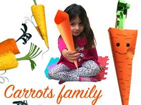怎么做简单胡萝卜模型 儿童彩纸制作胡萝卜教程