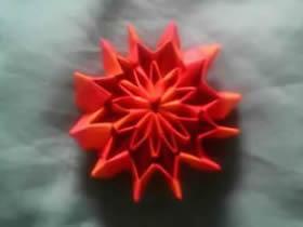 怎么折纸烟花无限翻 手工烟花的折法图解