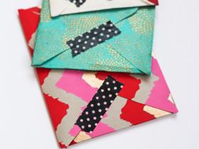 怎么做好看的信封图解 手工折纸漂亮信封方法