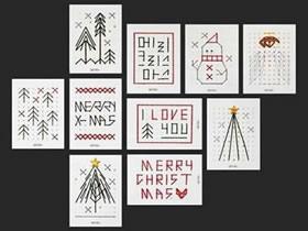 怎么做创意圣诞节卡片 毛线手工制作漂亮贺卡