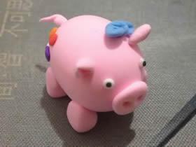 怎么做小粉猪的教程 超轻粘土手工制作小猪