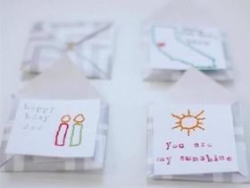 怎么做带信封卡片图解 简单儿童贺卡手工制作