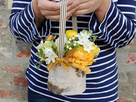 怎么做田园风花瓶图解 白桦树皮手工制作花盆