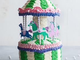 怎么做有创意的蛋糕 手工旋转木马蛋糕图片