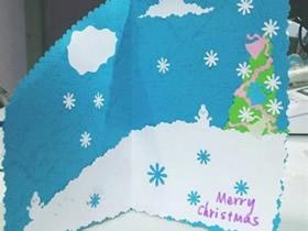 怎么做新年春节贺卡 下雪了圣诞贺卡手工制作